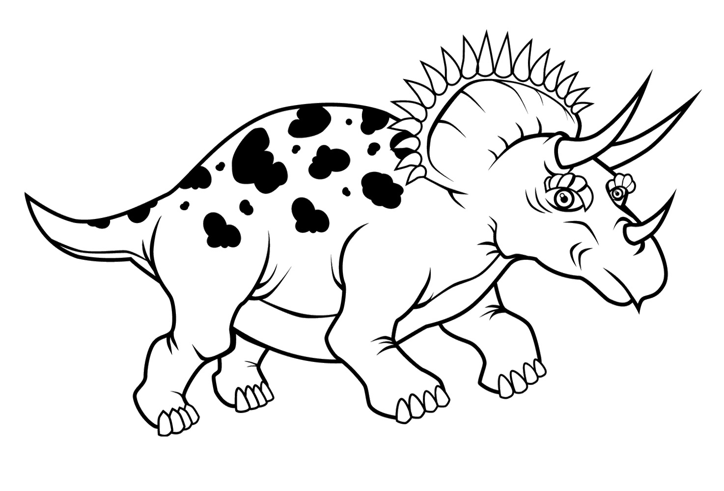 1474x1000 Triceratops Dinosaur Coloring Page Dinosaur Coloring Pages Kids