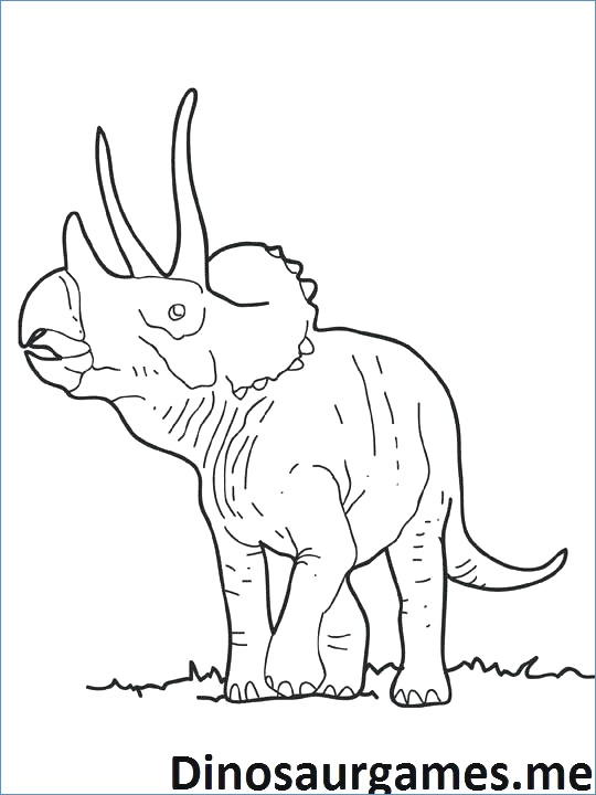 540x720 Triceratops Dinosaur Coloring Pages