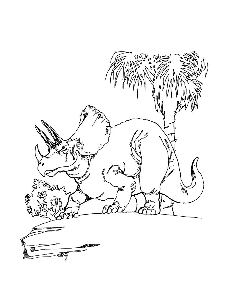 768x1024 Triceratops Coloring Pages