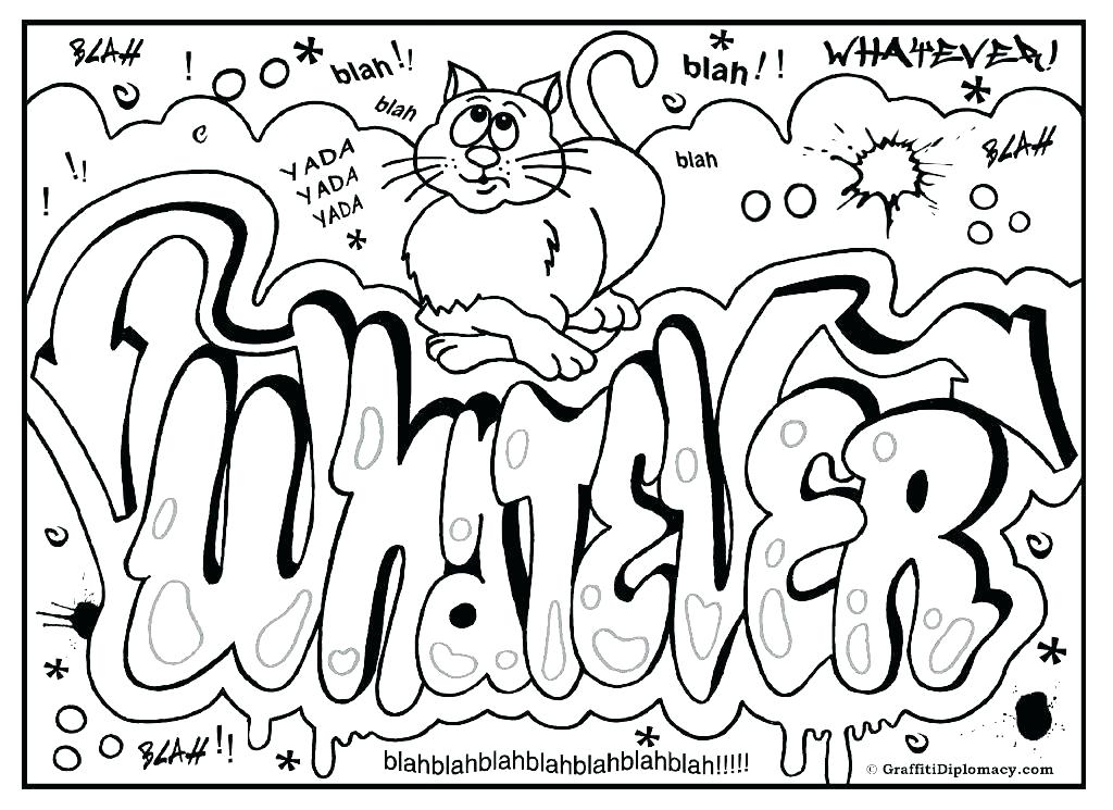 1024x745 Coloring Pages Names Graffiti Coloring Pages Printable Graffiti