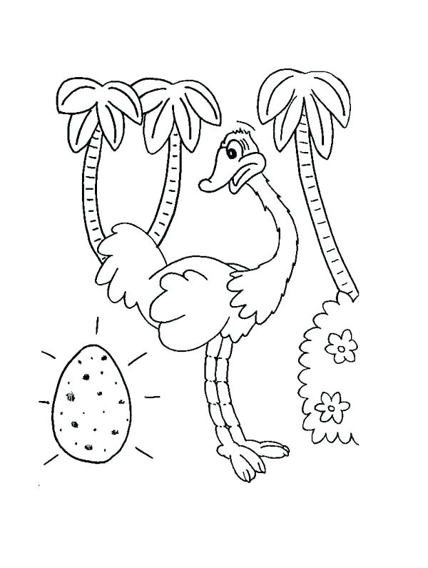 600x796 Egg Coloring Page Ostrich Egg Coloring Page Dinosaur Egg Coloring