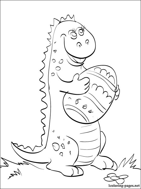 560x750 Coloring Page Small Dinosaur With Easter Egg Coloring Pages