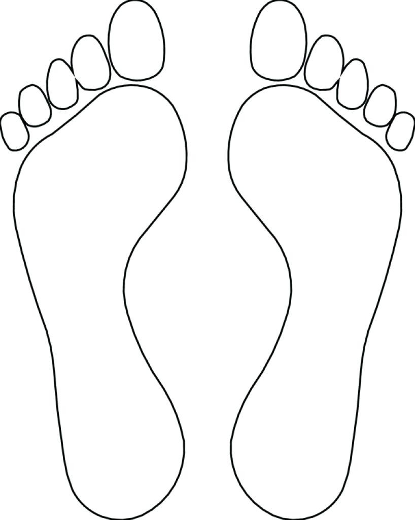 818x1024 Dinosaur Footprint Drawing