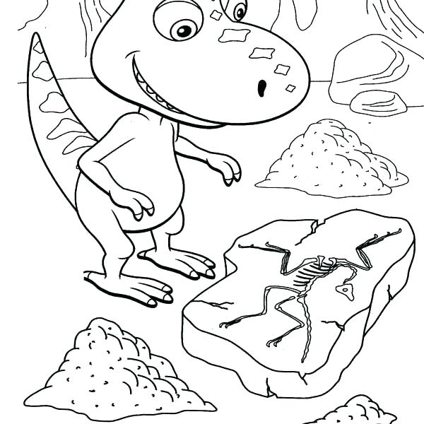 600x600 Dinosaur Train Coloring Pages Fossil Coloring Pages Dinosaur Train