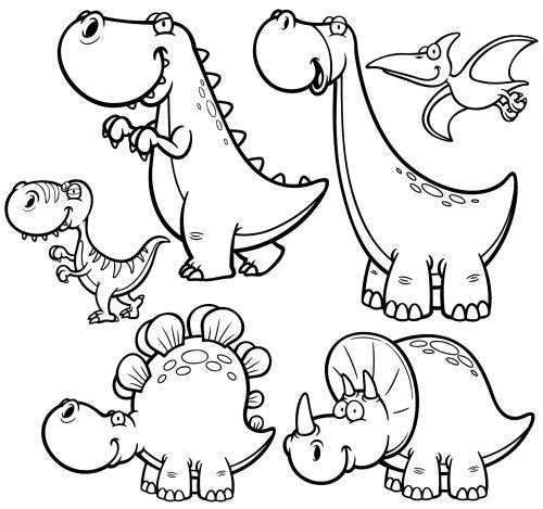 500x469 Fun Dinosaur Coloring Pages Imagiplay