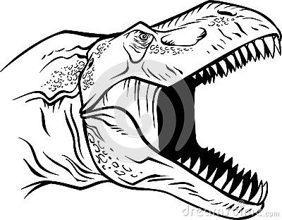 400x312 T Rex Head Coloring Pages