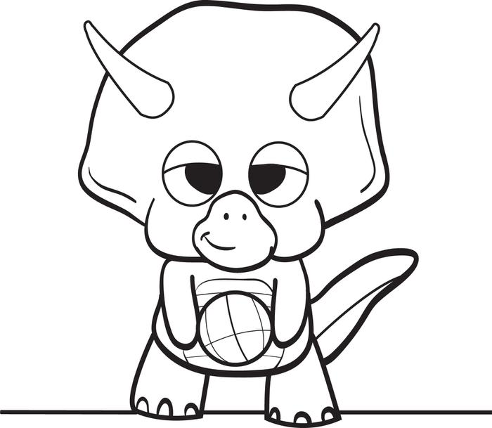 700x609 Baby Dinosaur Coloring Pages Free Printable Cartoon Page For Kids