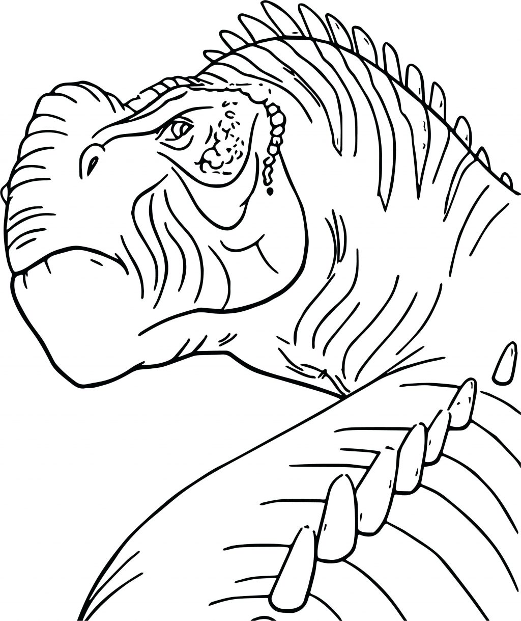1024x1219 Coloring Pages Dinosaur Color Pages S Head Coloring Page Animal
