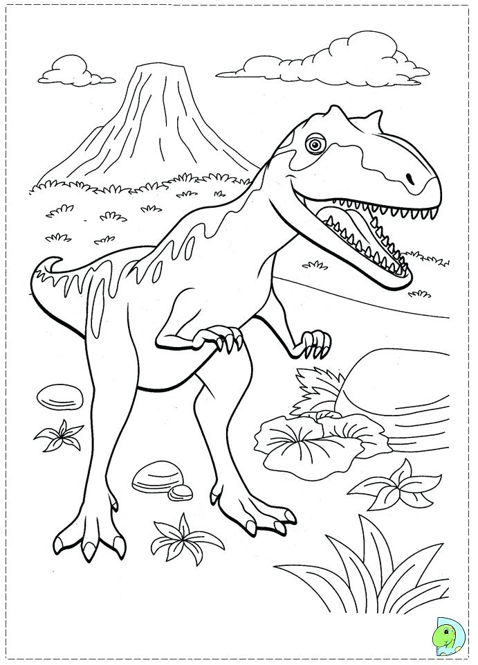 691x960 Dinosaur Train Coloring Pages Train Coloring Pages Printable Ten