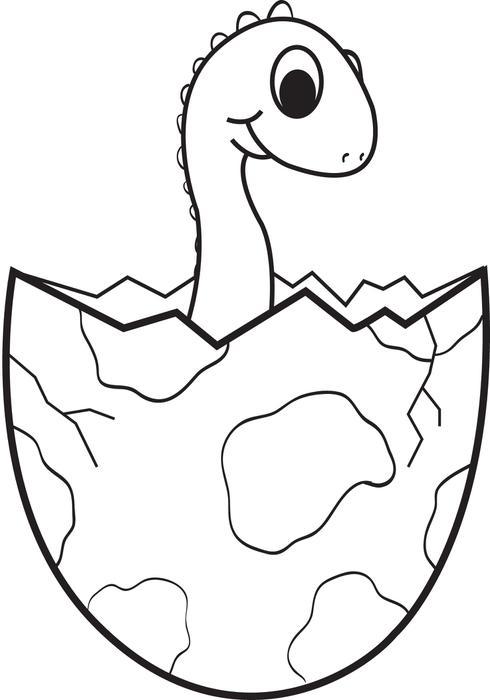 490x700 Baby Dinosaur Coloring Page Free Printable Cartoon Ba Dinosaur