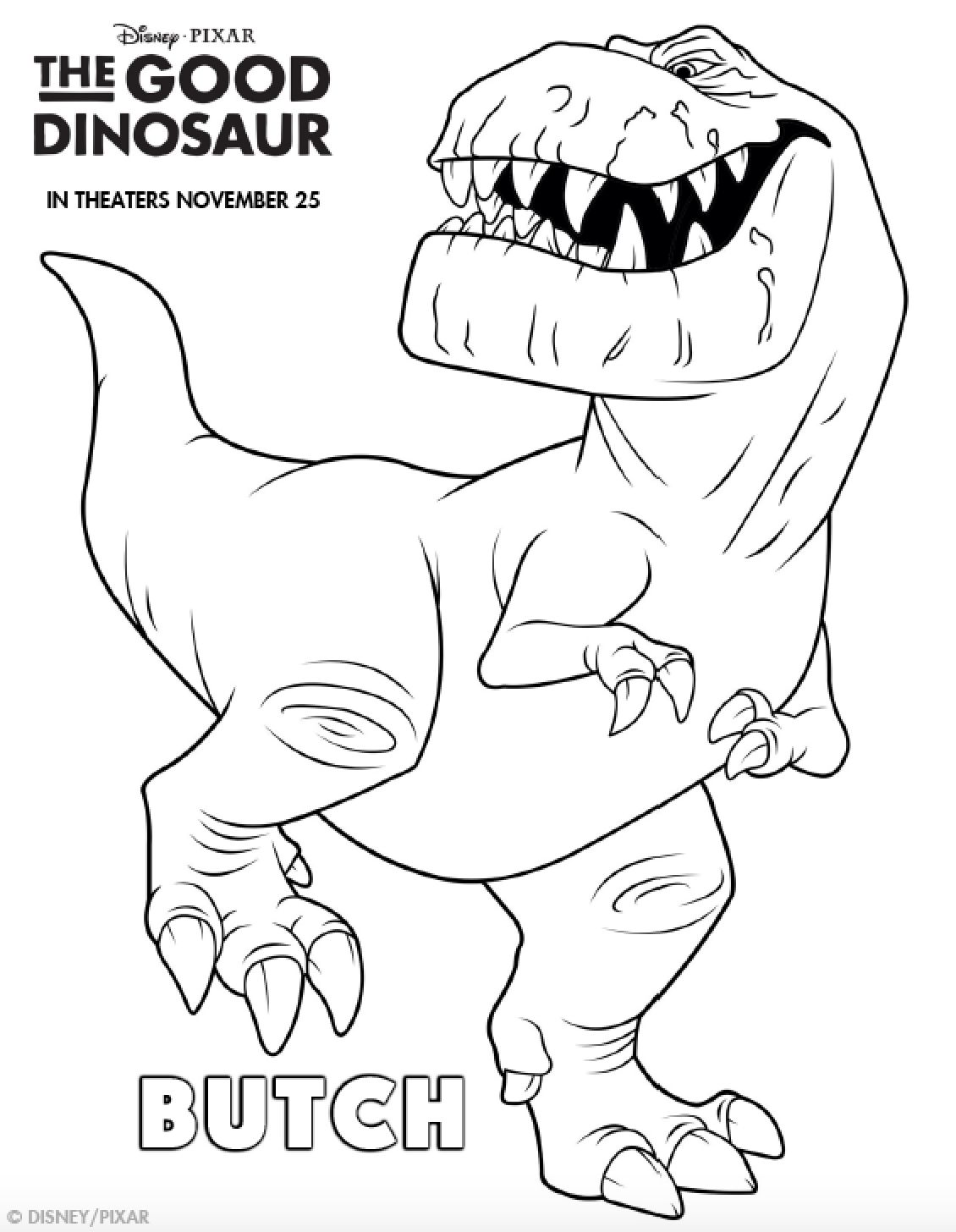 1130x1456 The Good Dinosaur Coloring Pages