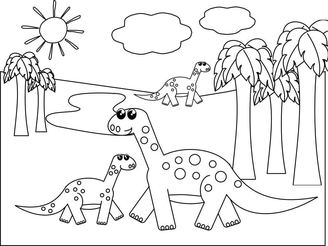 Dinosaur Kids Coloring Pages at GetDrawings | Free download