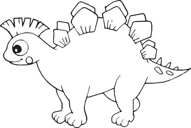 666x446 Cartoon Dinosaur Coloring Pages Cartoon Dinosaur For Kids Coloring