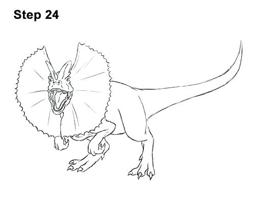 500x386 Dilophosaurus Coloring Page Coloring Coloring Dinosaur Outline