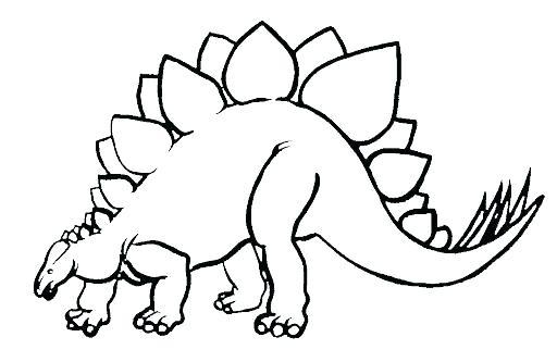 512x333 Preschool Dinosaur Coloring Pages Stegosaurus Page Sheets Young