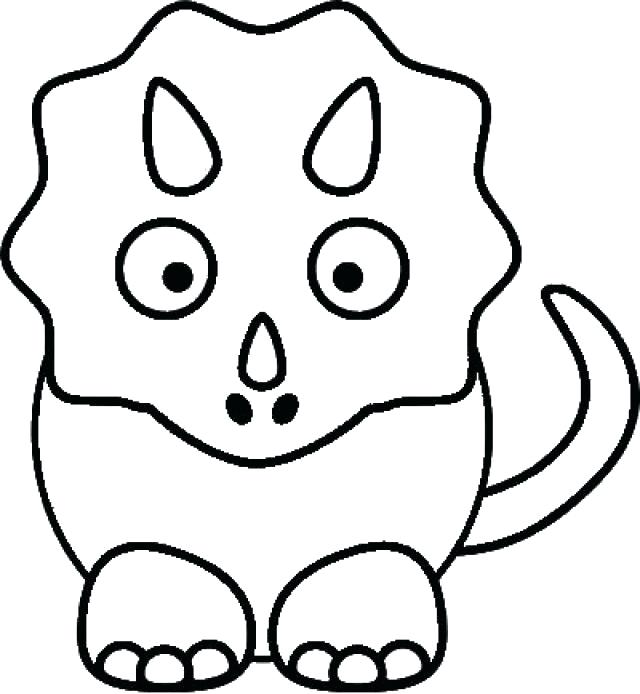 640x694 Triceratops Coloring Pages Triceratops Coloring Page Free