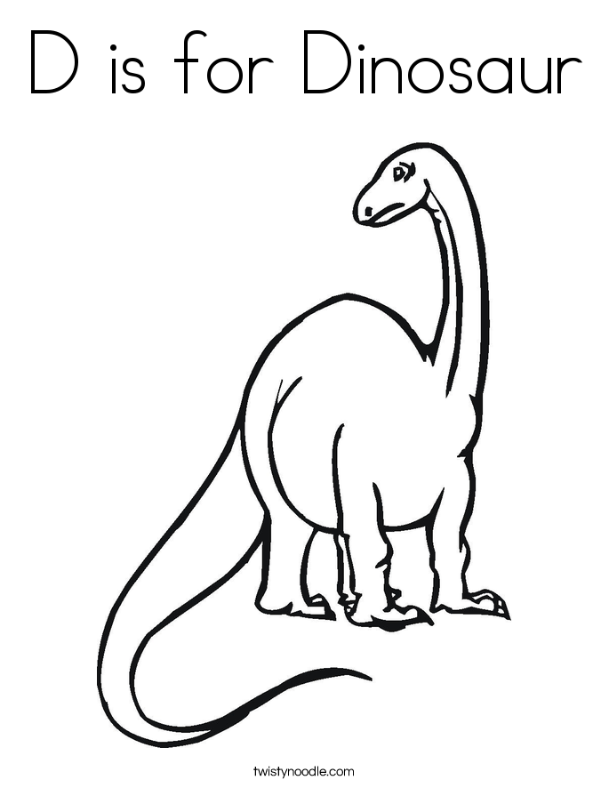 685x886 D Is For Dinosaur Coloring Page
