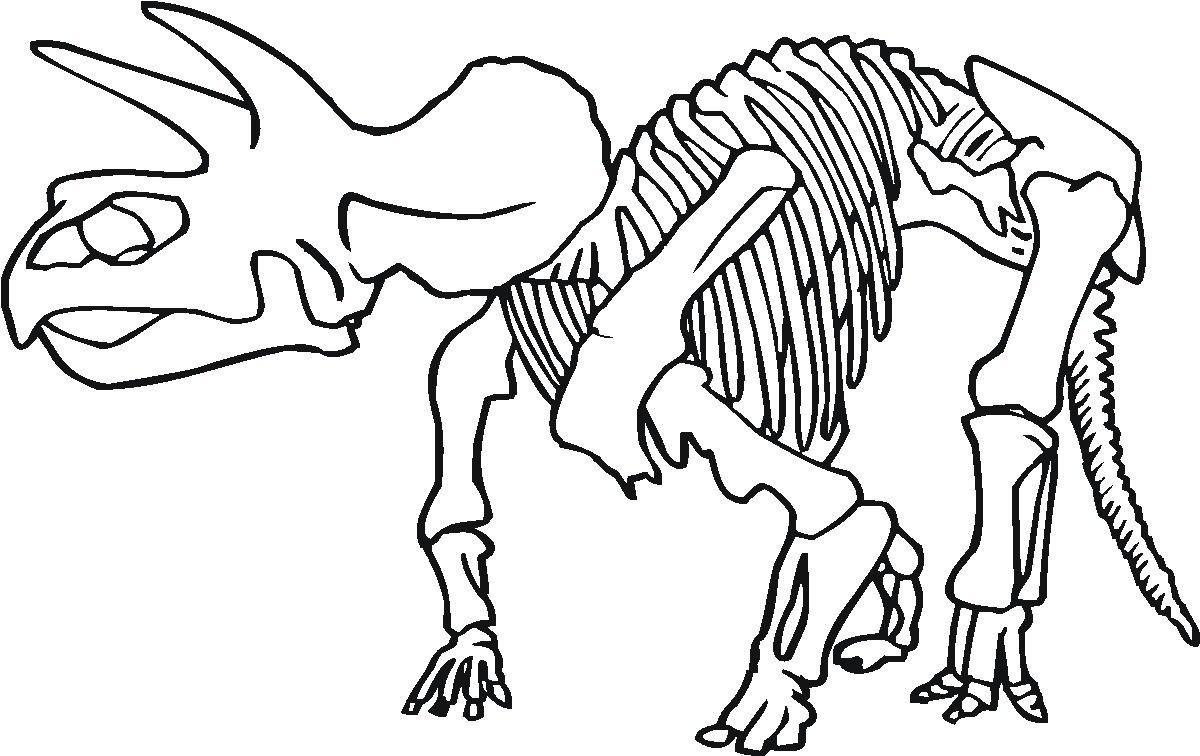 1200x756 Shocking Printable Dinosaur Bones Coloring For Skeleton Page Pict