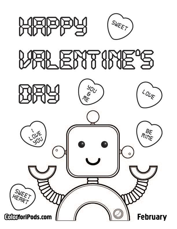612x792 Best Valentine's Theme Images On Coloring Pages
