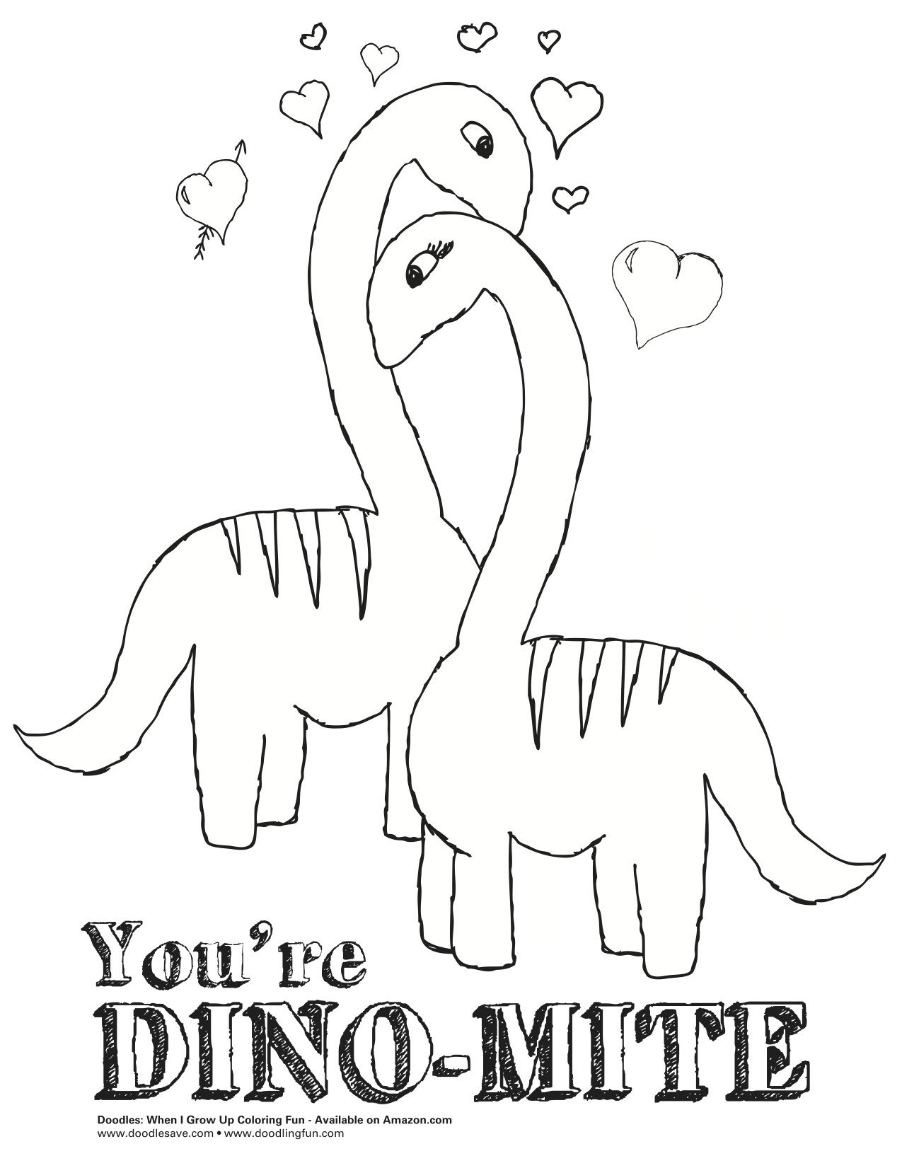 Dinosaur Valentine Coloring Pages At Getdrawings Com Free For