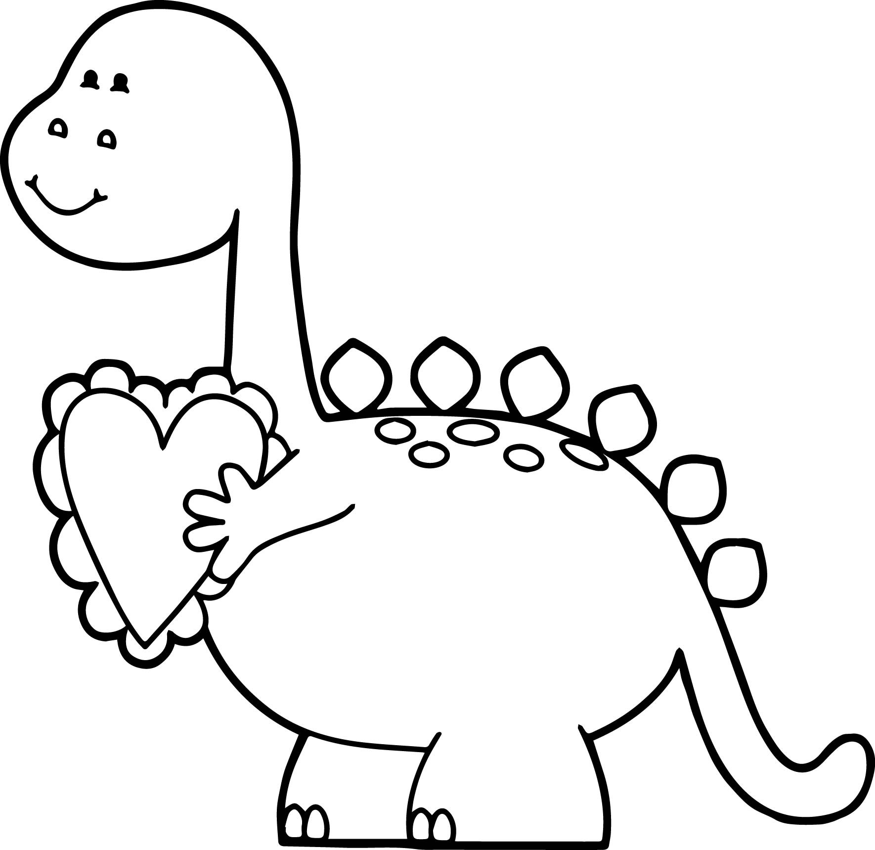 1770x1719 Dinosaur Valentine Coloring Pages Acpra