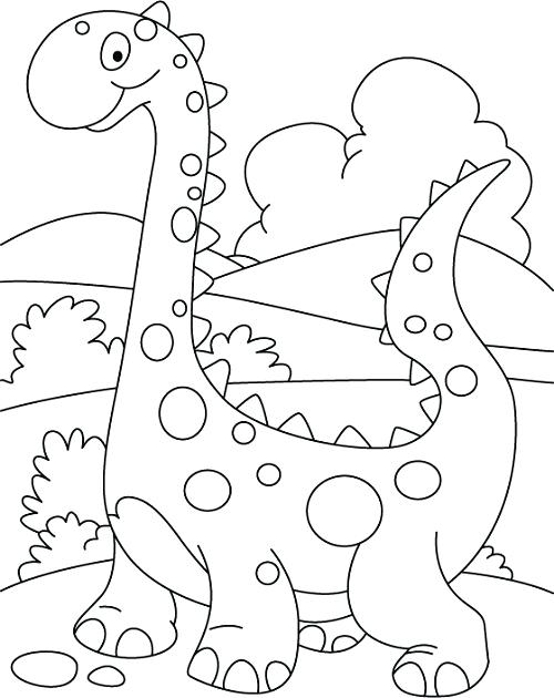 500x630 Kindergarten Color Pages Dinosaur Coloring Pages For Preschoolers
