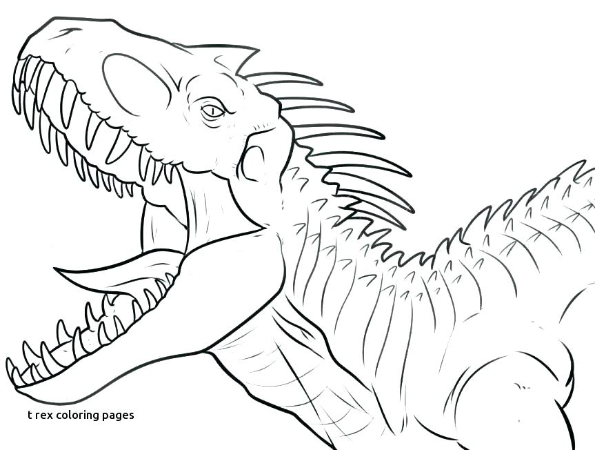 863x652 Trex Coloring Page Dinosaurs Color Pages Dinosaur Coloring Pages