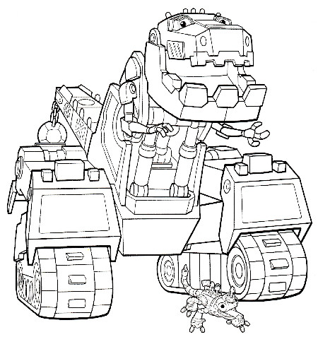 Dinotrux Coloring Pages - GetColoringPages.com | 477x450