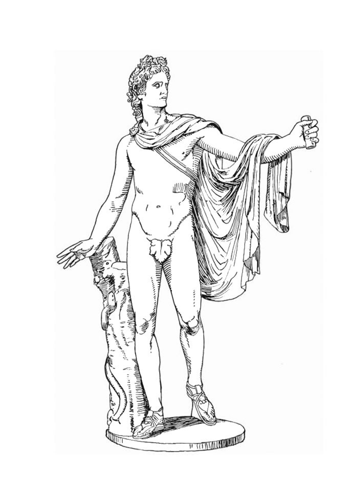 678x960 Dionysus The Greek God Of Wine Coloring Pages