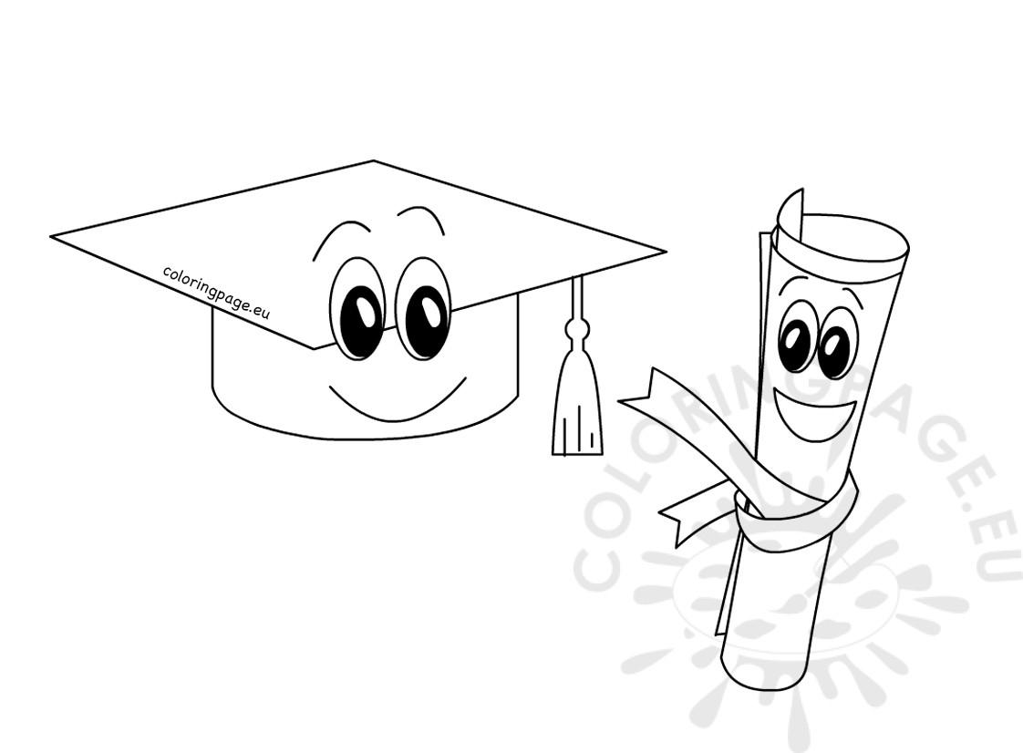Diploma Coloring Page