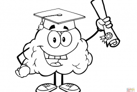 273x183 Brain Coloring Page Picture High Free Printable Pages Pdf High Def