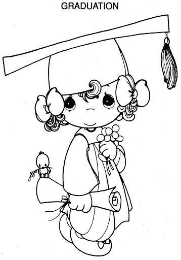 358x512 Graduation Precious Moments Coloring Pages Precious Moments