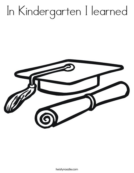 468x605 In Kindergarten I Learned Coloring Page
