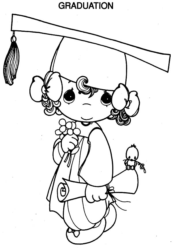 600x858 Professor Handed Diploma To Student On Graduation Day Coloring