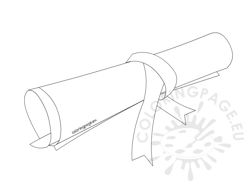 804x595 Rolled Diploma Coloring Page