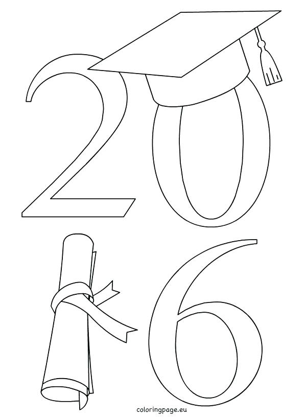 595x822 Coloring Graduation Cap Coloring Page Pages Class Of Hat