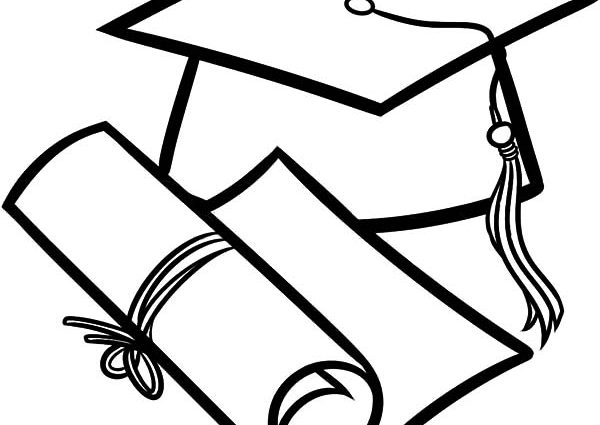 600x425 Graduation Cap Diploma Coloring Pages How To Draw Diploma