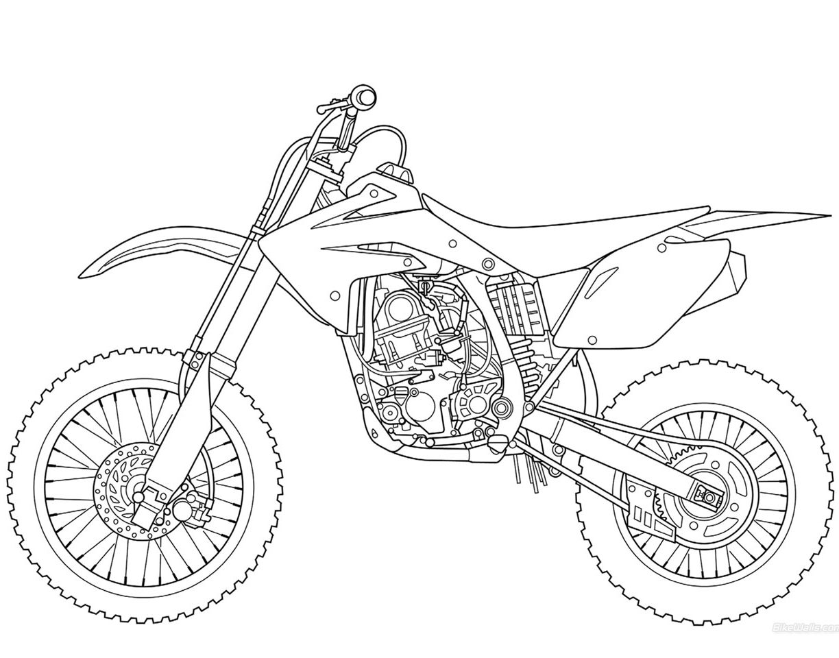 1224x960 Dirt Bike Coloring Pages