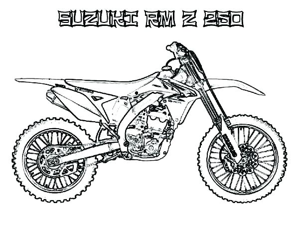 600x463 Dirt Bike Coloring Pages Dirt Bike Coloring Page Motocross