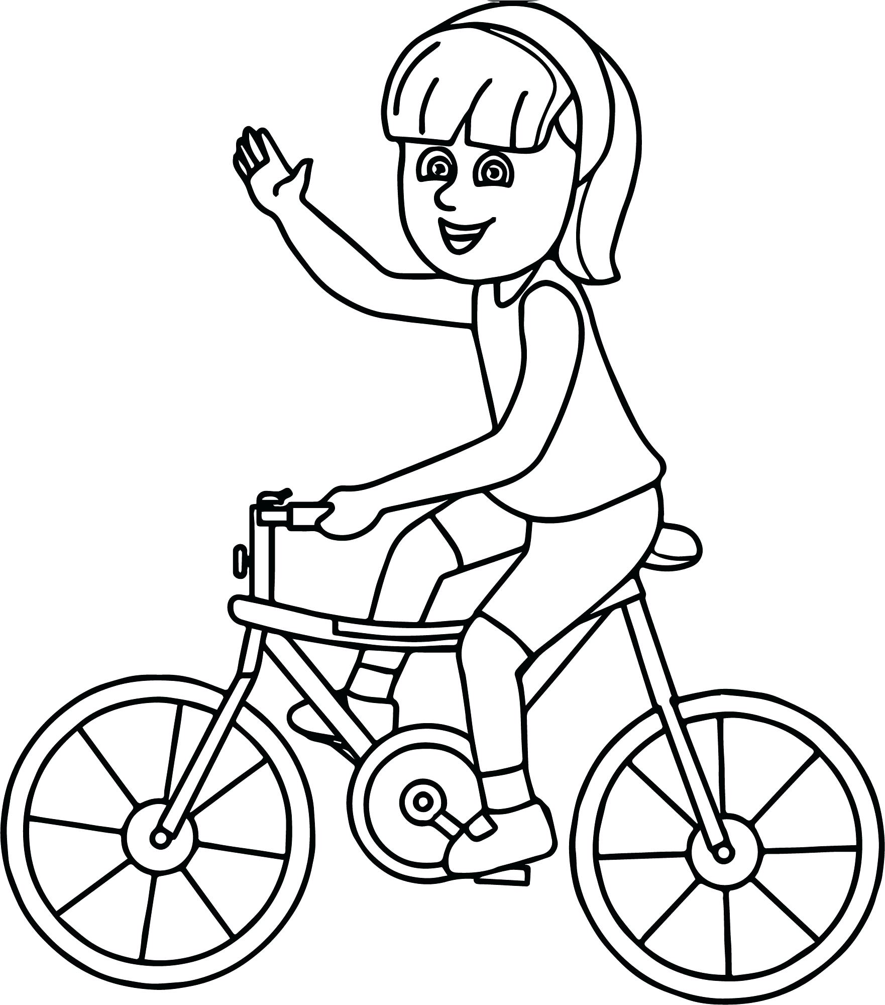 1762x2000 Dirt Bike Coloring Pages Riding Girl On Bicycle Page Helmet
