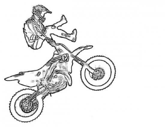 550x425 Dirt Bike Coloring Pages