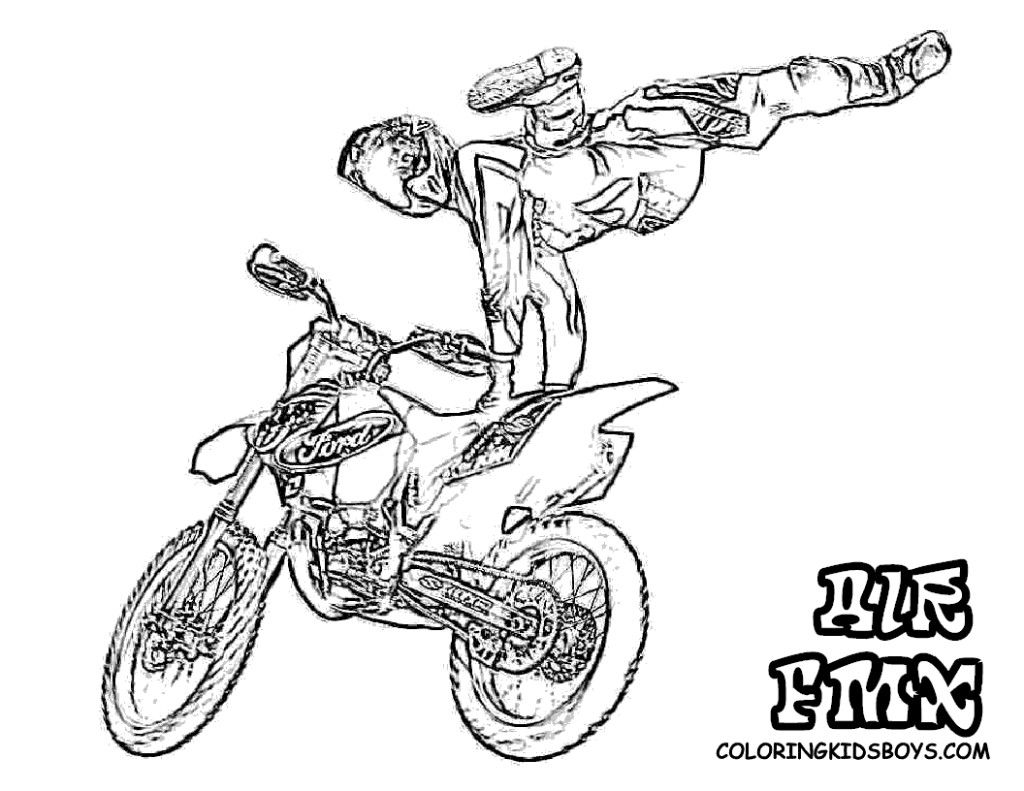 1024x791 Liberal Yamaha Dirt Bike Coloring Pages Motocross Printable Book