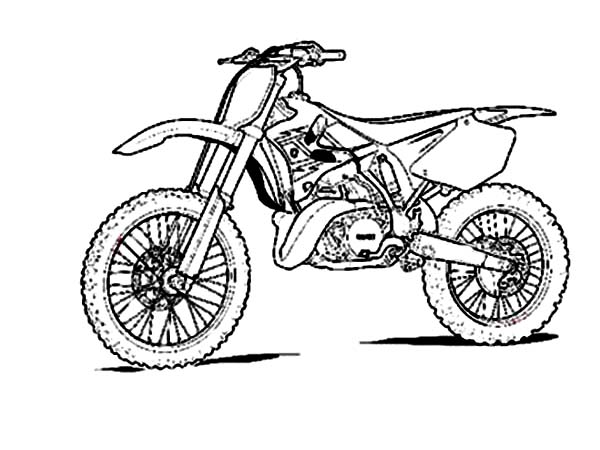 600x450 Sketch Of Dirt Bike Coloring Page Coloring Sun
