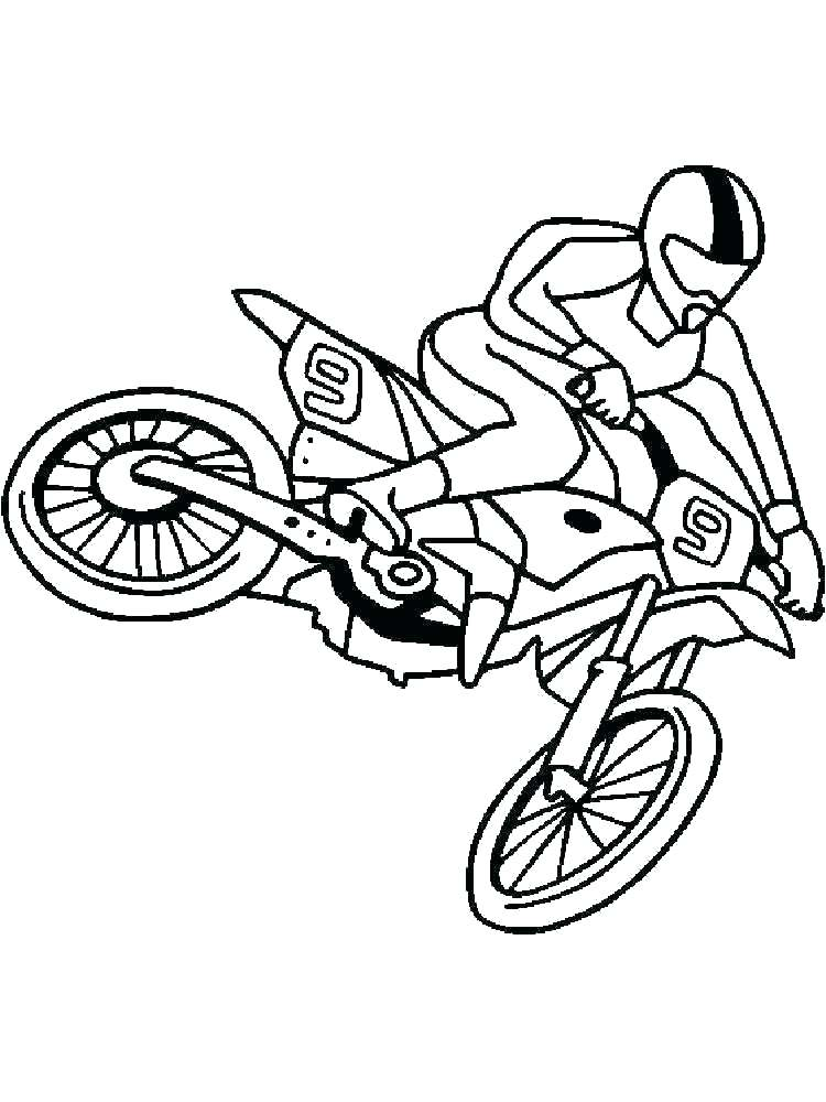 750x1000 Coloring Pages Dirt Bikes