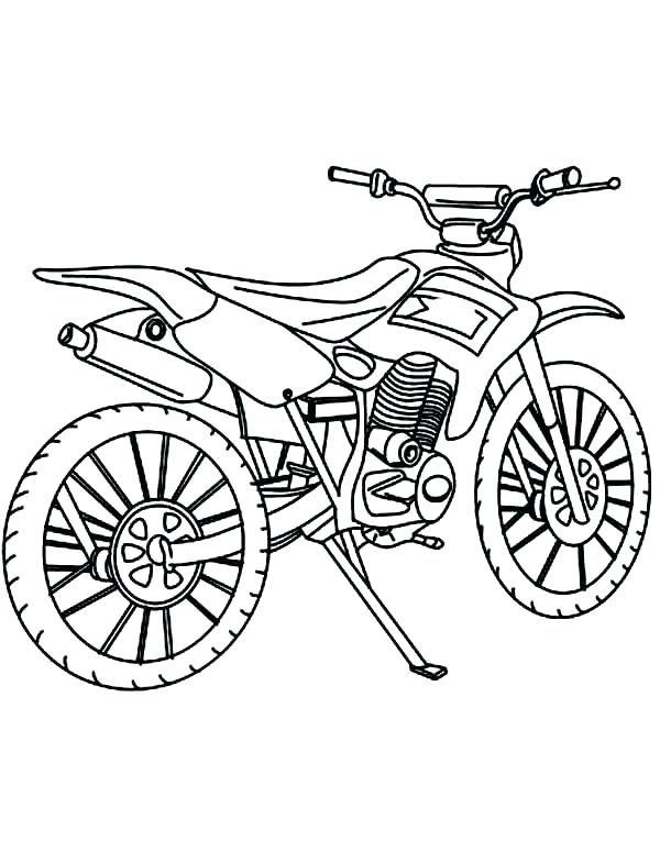 600x775 Bike Safety Coloring Pages Bike Coloring Page Dirt Bike Color