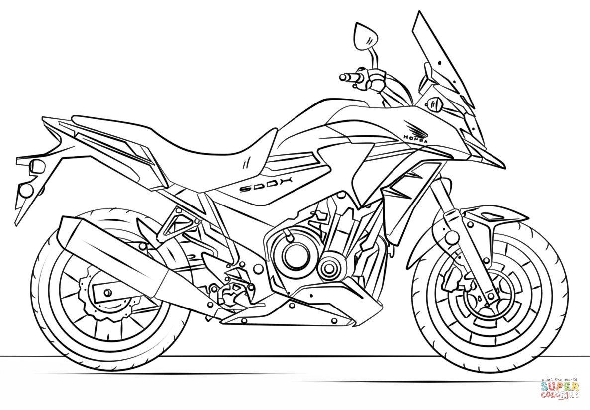 Dirt Bike Coloring Pages Printable