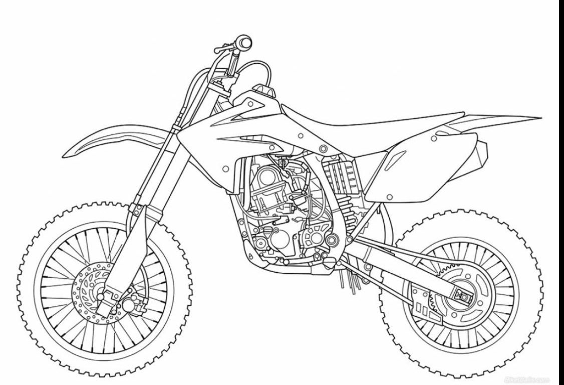Dirt Bike Coloring Pages Printable At Getdrawings Com Free For