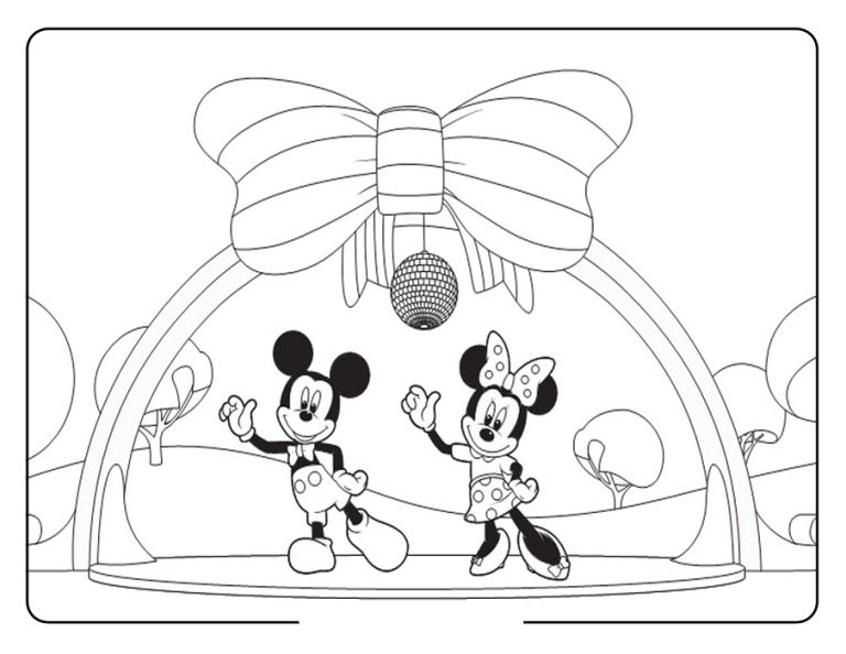 768x594 Mickey And Minnie Disco Coloring Page Boys Pages