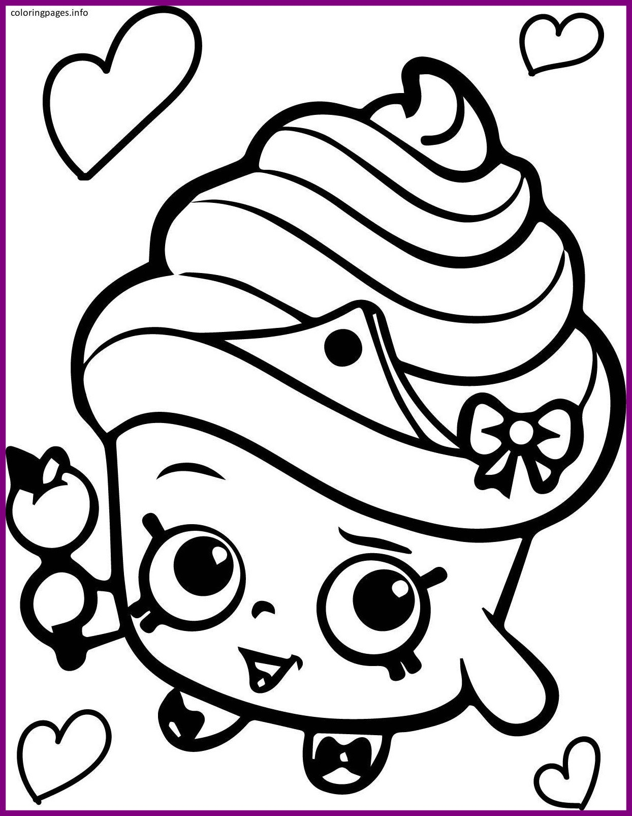 1244x1605 Amazing Shopkins Coloring Cupcake Queen Pict For Disco Ball Page