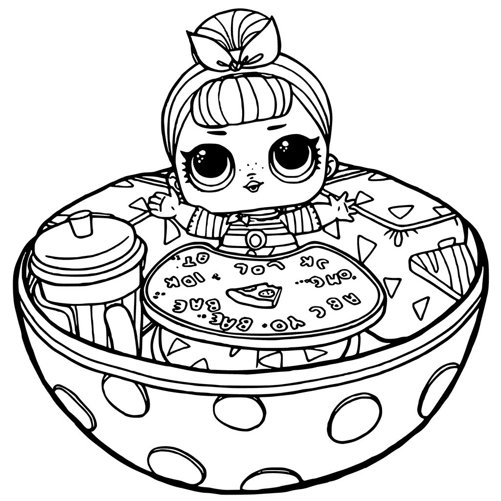 1024x1024 Competitive Disco Ball Coloring Page Famous Lol Surprise Pages